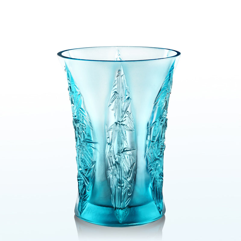 Lovely Bamboo Shadows (In the Presence of Spring) - Crystal Flower Vase - LIULI Crystal Art - [variant_title].