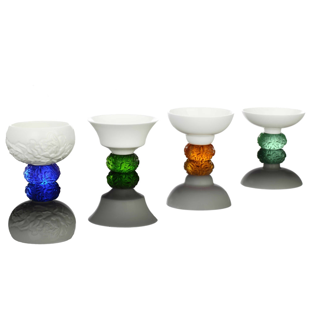Bone China Sake Glass, Seasonal Treasures, Set of 4 - LIULI Crystal Art - [variant_title].