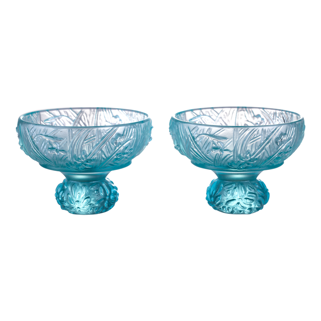 Virtuous Orchid (A Drink to Virtue) - Sake Glass, Shot Glass (Set of 2) - LIULI Crystal Art - [variant_title].
