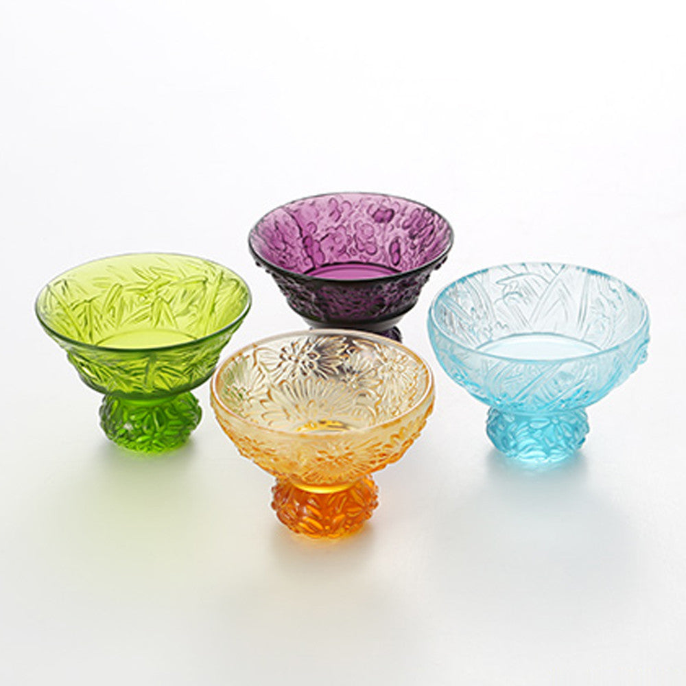 A Drink To Virtue (Set of 4), Sake Glass, Shot Glass (4 Designs) - LIULI Crystal Art - [variant_title].