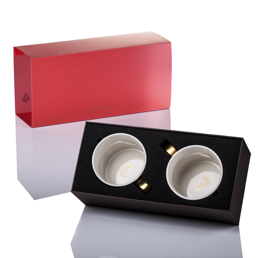 Bone China Tableware, Zen, Freedom Mug (Set of 2) - LIULI Crystal Art - [variant_title].