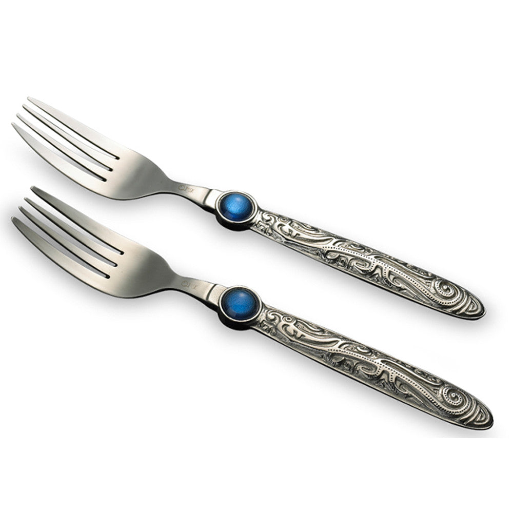 "Stainless Utensils (Forks) - ""In the Clouds, Wings of the Phoenix-Cloud Fascination"" (Set of 2)"