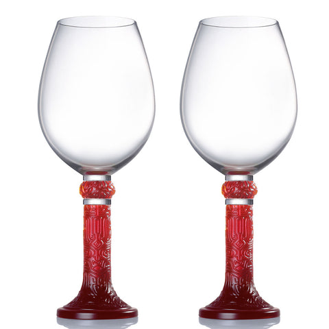 Wine Goblet, Bordeaux Glass - Moon Shadows (Set of 2)
