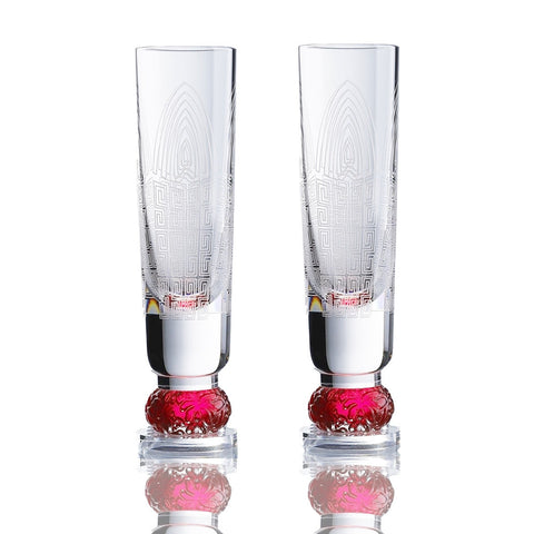 Crystal Snifter Sake Shot Glasses (Spiral Pattern) - Sweet Tooth (Set of 2pcs)