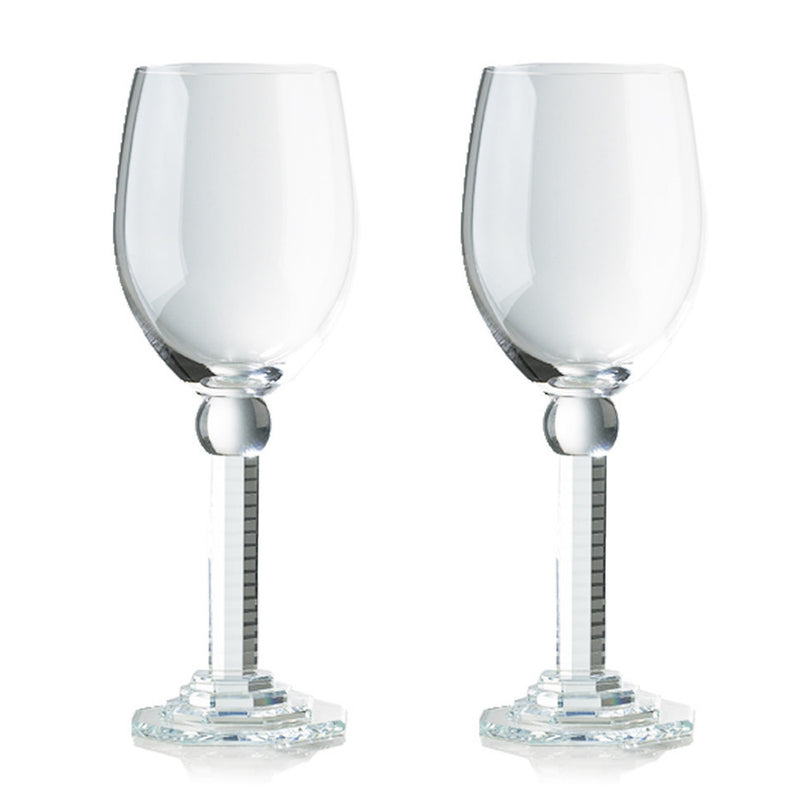 -- DELETE -- Wine Goblet, Bordeaux Glass - Steps of Starry Brilliance (White Wine) - LIULI Crystal Art