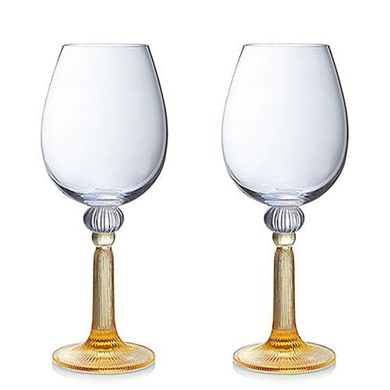 Wine Goblet, Bordeaux Glass - Night Light (Set of 2) - LIULI Crystal Art