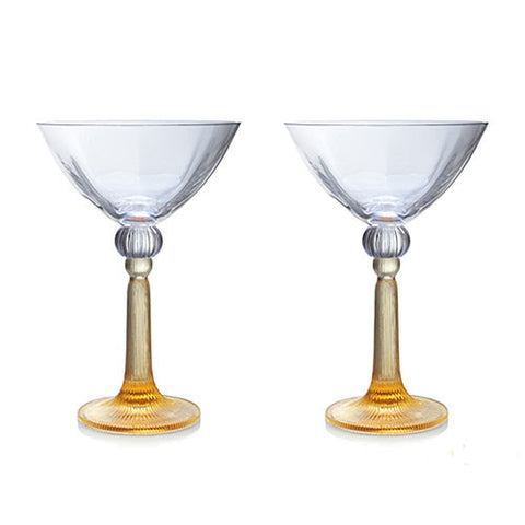 Wine Goblet, Martini Glass - Silent Dancer (Set of 2)