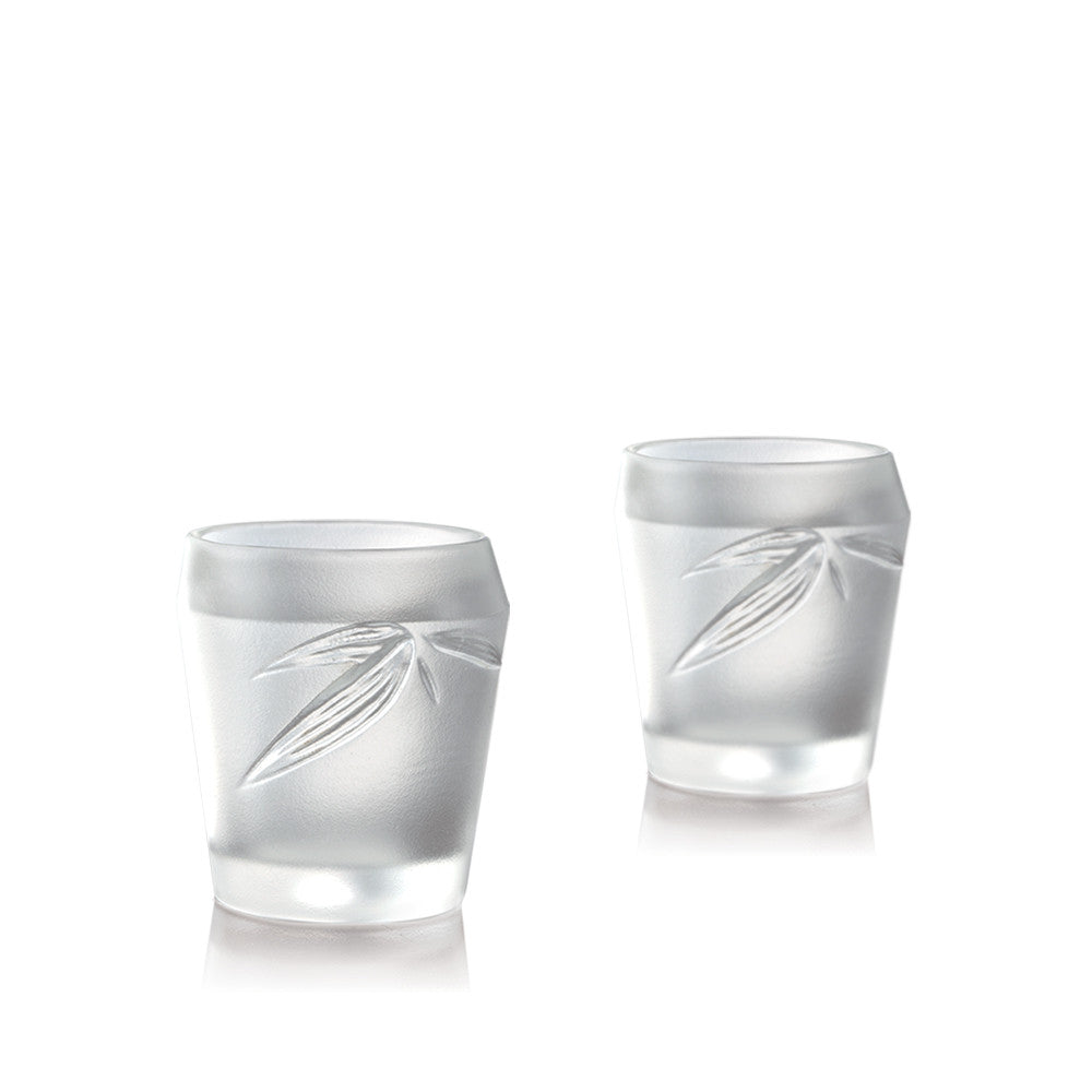 Crystal Shot Glass, Sake Glass, Ascent (Set of 2) - LIULI Crystal Art