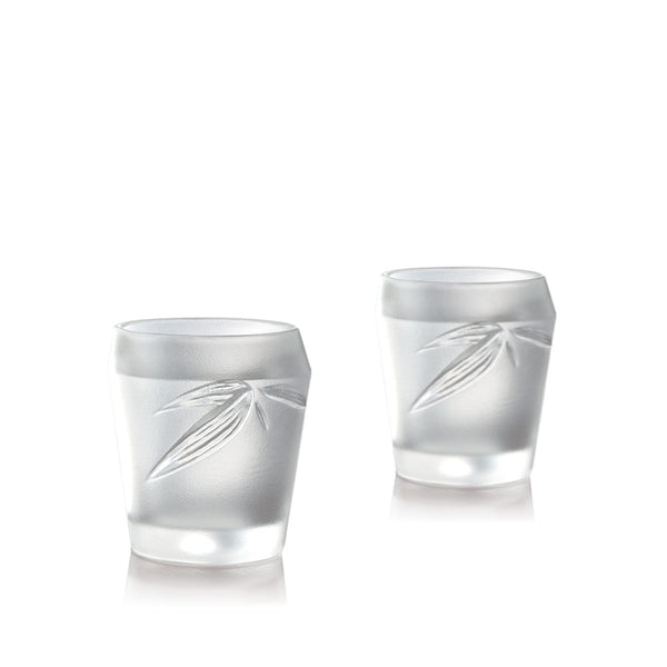 Ascent - Liquor Glass, Shot Glass, Sake Glass (Set of 2) - LIULI Crystal Art