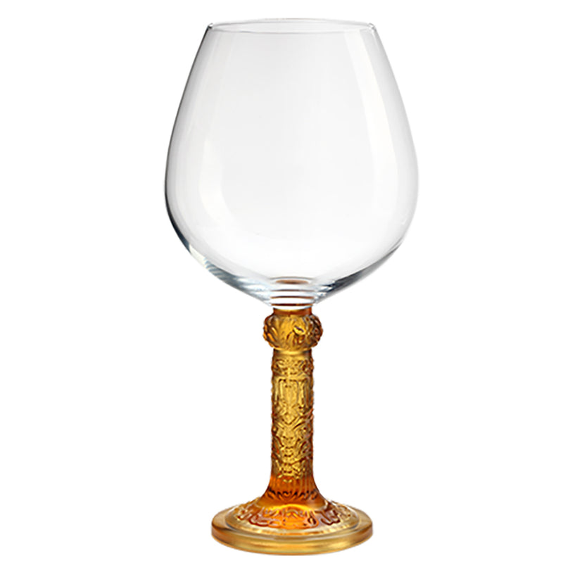 Crystal Wine Goblet, Burgundy Glass, Flower Moon Duo (Set of 2) - LIULI Crystal Art