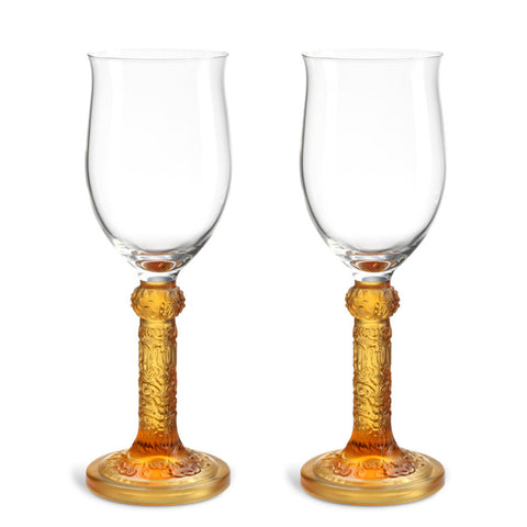 Wine Goblet, Dessert Wine Glass - Flower Moon Duo