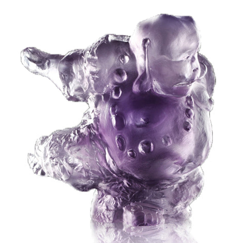 Crystal Buddha, Matreiya, Belly Buddha, Happy Buddha, Great Joy-Effortlessness - LIULI Crystal Art