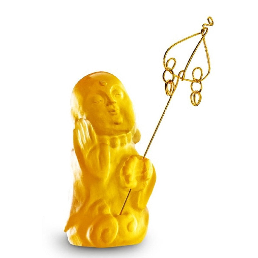 Joyous and Worry-Free - I Am Not Afraid - LIULI Crystal Art - Amber.