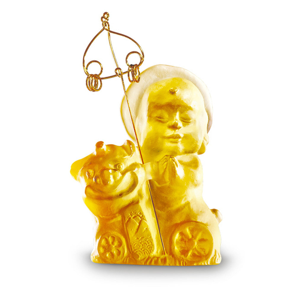 Joyous and Worry-Free - Safe Travels - LIULI Crystal Art - Amber.