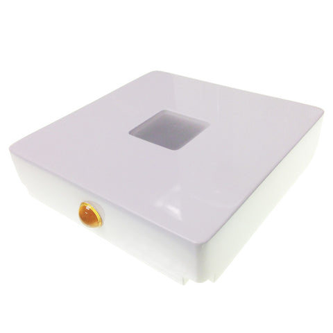 "LED Display Light Box: 5.15""L x 5.15""W x 2.00""H (Pearl White)"