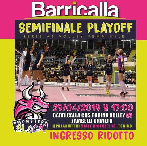 PLAY-OFF TORINO CUS VOLLEY PALARUFFINI