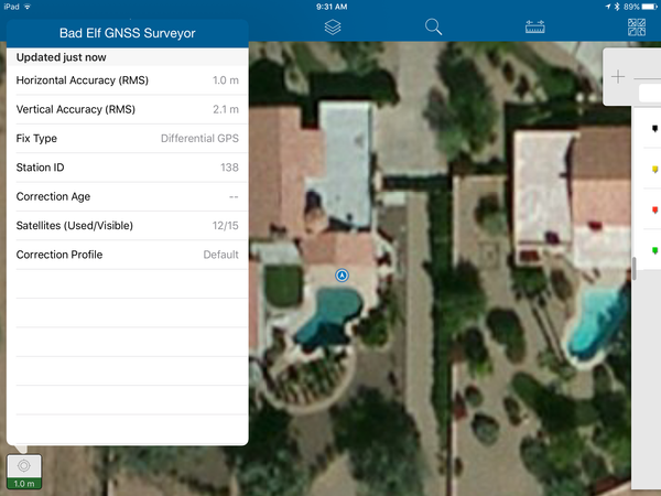 Esri Collector 10.4 integrated with Bad Elf GNSS Surveyor