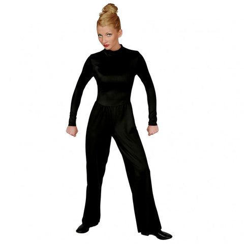 Black Lycra Jumpsuit