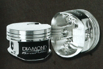 DIAMOND PISTONS: BB CHEVROLET 24/26 DEGREE MARINE FLAT TOP SERIES