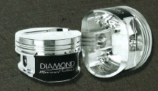 DIAMOND PISTONS: BB CHEVROLET 24/26 DEGREE MARINE DISH SERIES