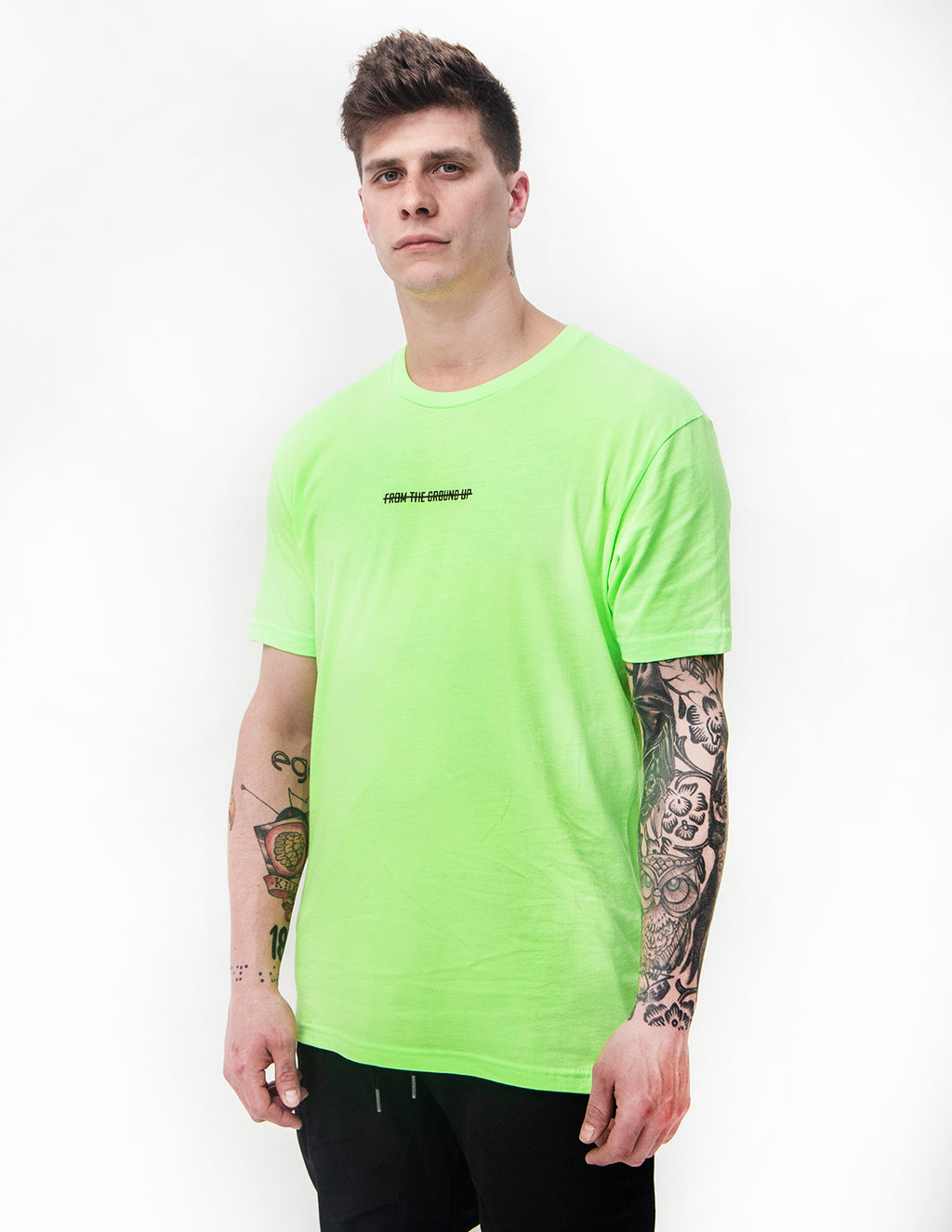 From The Ground Up Tee - Neon Green