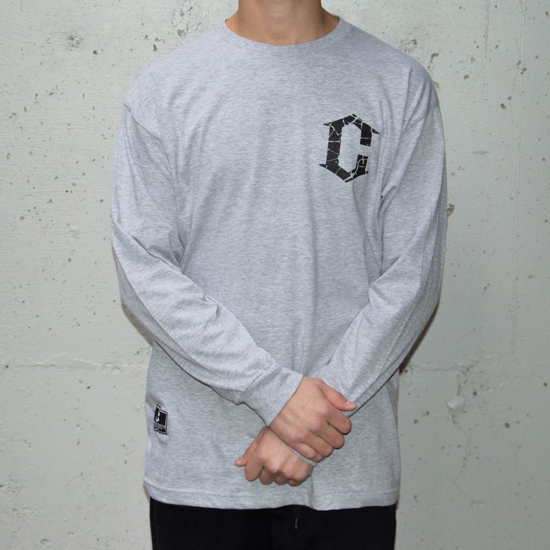 Block L/S Tee - Heather Grey