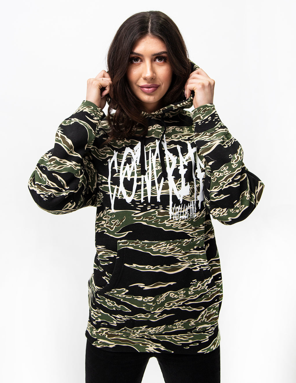 Scratched Camo Hoodie