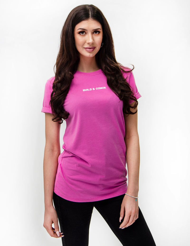 Build & Concr Tee - Pink