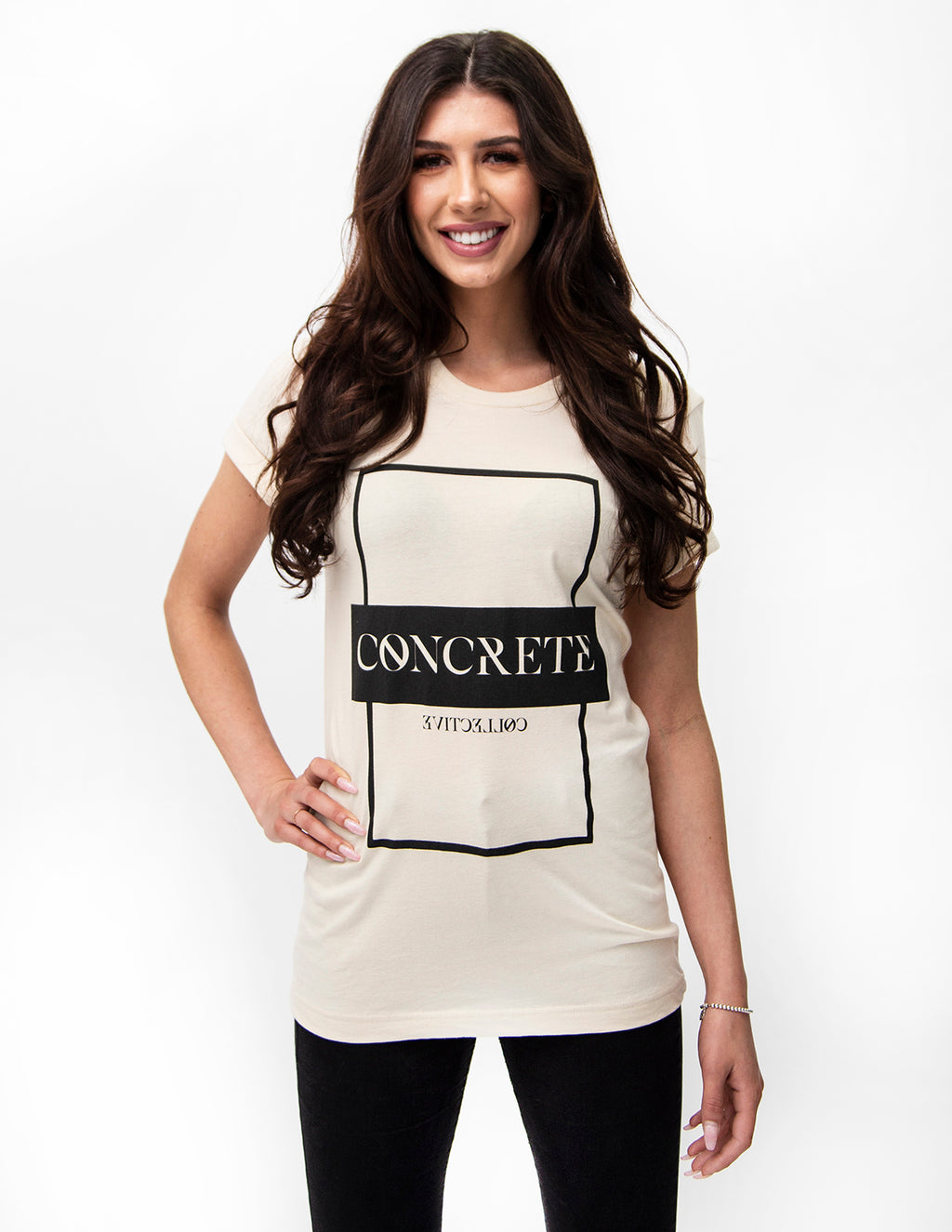 Stone Tablet Tee - Cream