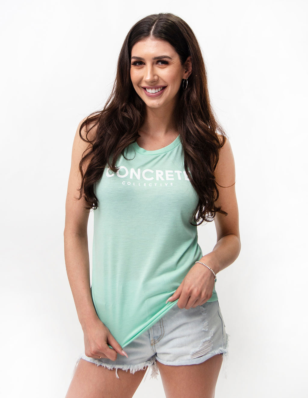 Womens Muscle Tank - Mint