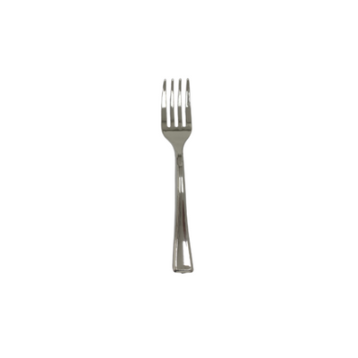 Metallic Silver Mini Forks - (Pack of 100)