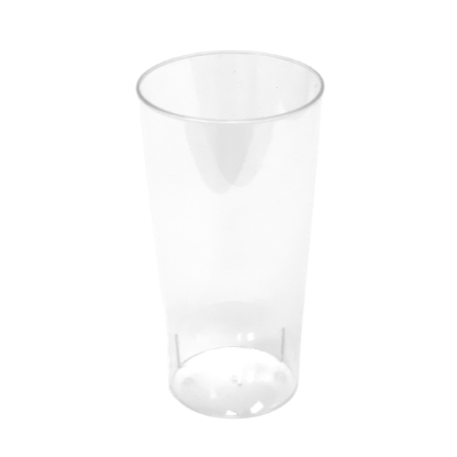 Plastic Tall Round Dessert Cups Clear 90ml (20 Pack)