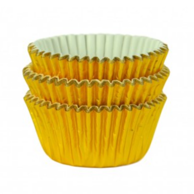 Gold Foil Cupcake Cases (Pack of 45)
