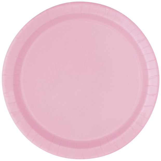 Baby Pink Paper Plates 23cm (8 Pack)