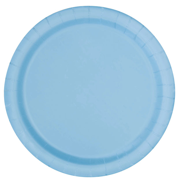 Baby Blue Paper Plates 23cm (8 Pack)