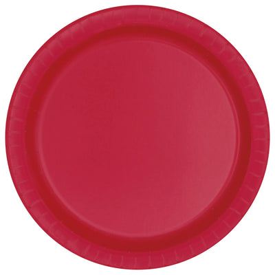 Red Paper Plates 23cm (8 Pack)