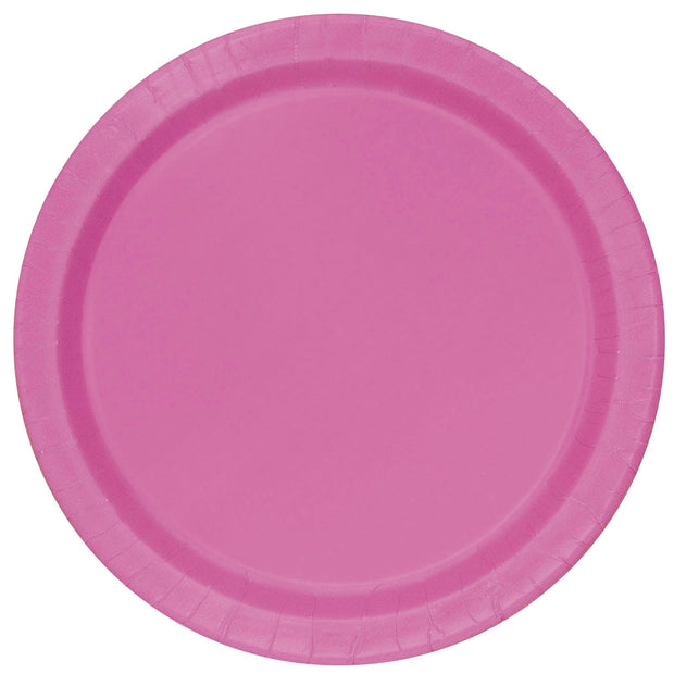 Hot Pink Paper Plates 23cm (8 Pack)