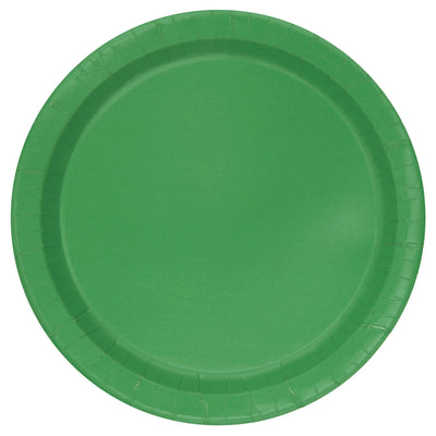 Emerald Green Paper Plates 23cm (8 Pack)