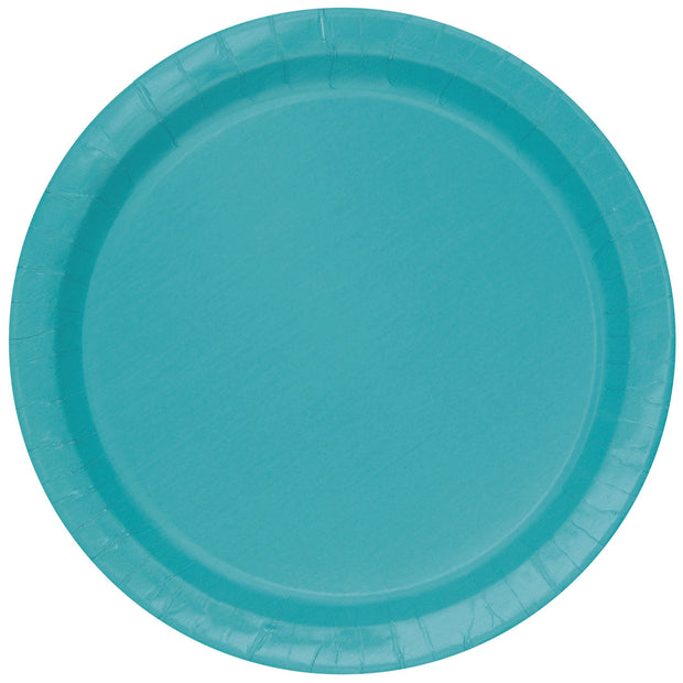Teal Paper Plates 23cm (8 Pack)