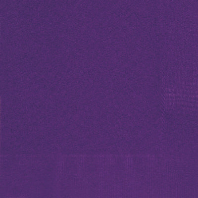 Deep Purple Square Paper Napkins 33cm (20 Pack)