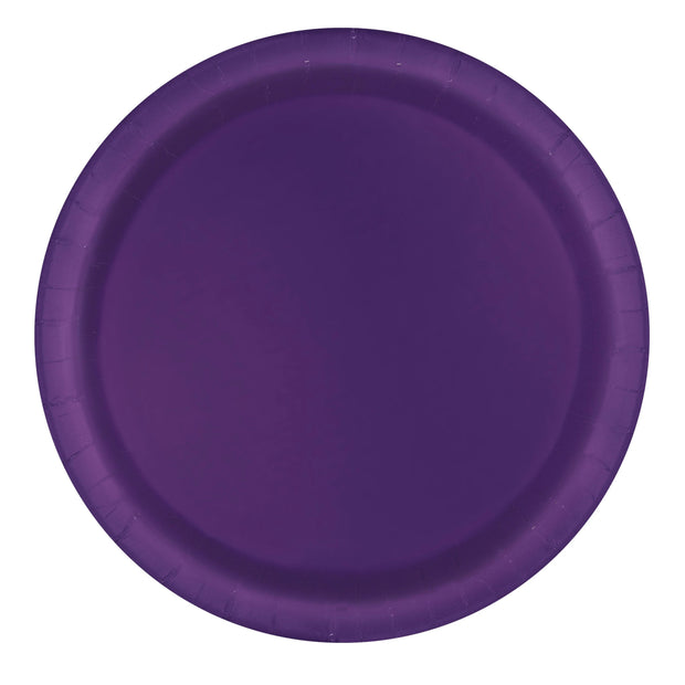 Deep Purple Paper Plates 23cm (8 Pack)