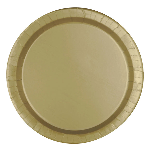 Gold Paper Plates 23cm (8 Pack)