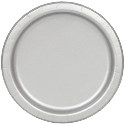 Silver Paper Plates 23cm (8 Pack)