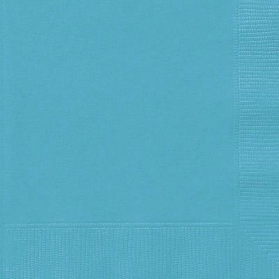 Teal Square Paper Napkins 33cm (20 Pack)