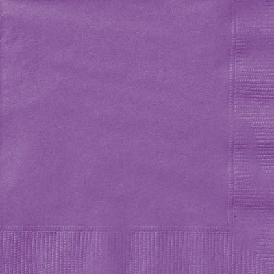 Purple Square Paper Napkins 33cm (20 Pack)