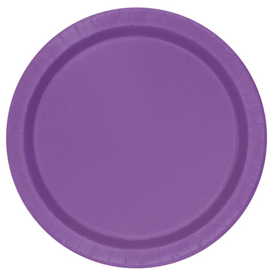 Purple Paper Plates 23cm (8 Pack)
