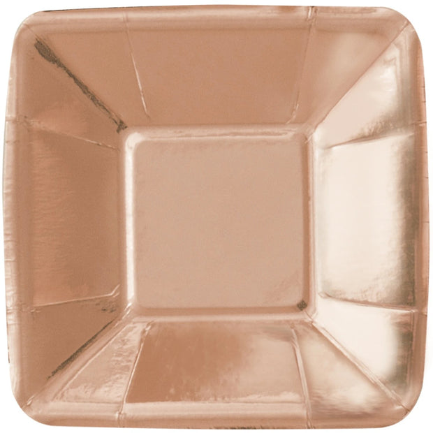 Rose Gold Square Appetiser Plates (8 Pack)