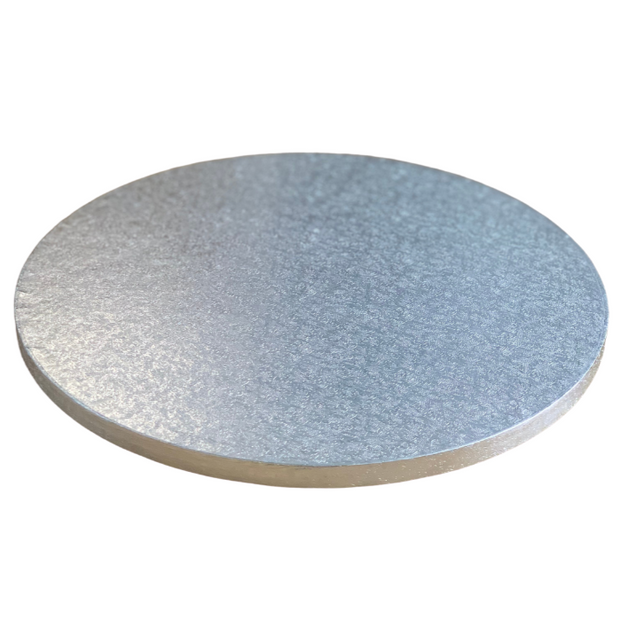 Round Cake Drum Board Silver - All Sizes