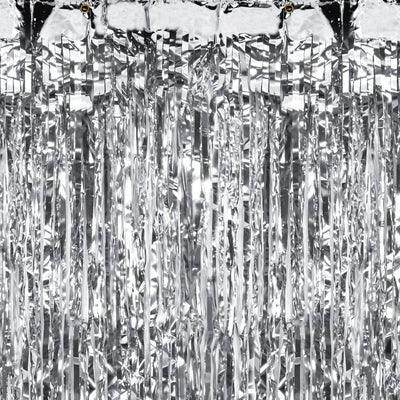Silver Foil Party Curtain (2.5m)