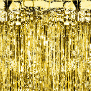 Gold Foil Party Curtain (2.5m)